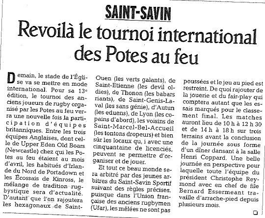 Paru dans le Dauphiné Libéré au 11/05/2012